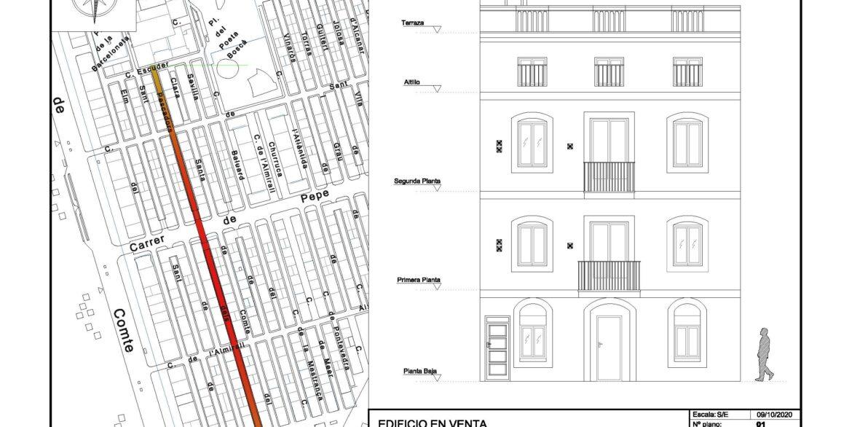 EDIFICIO CALLE PESCADORES_Emplazamierno y fachada