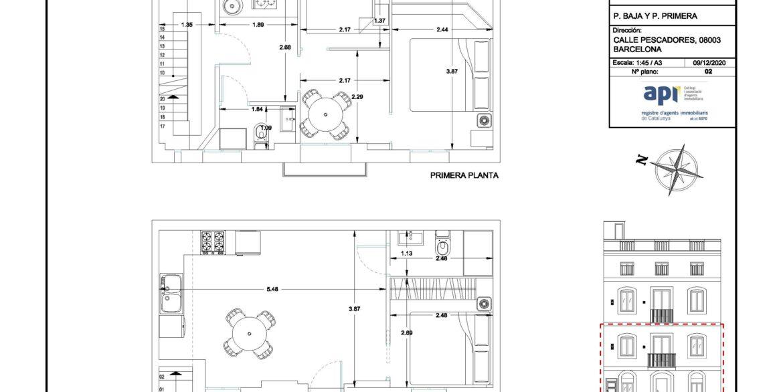 EDIFICIO CALLE PESCADORES_P. B y Primera